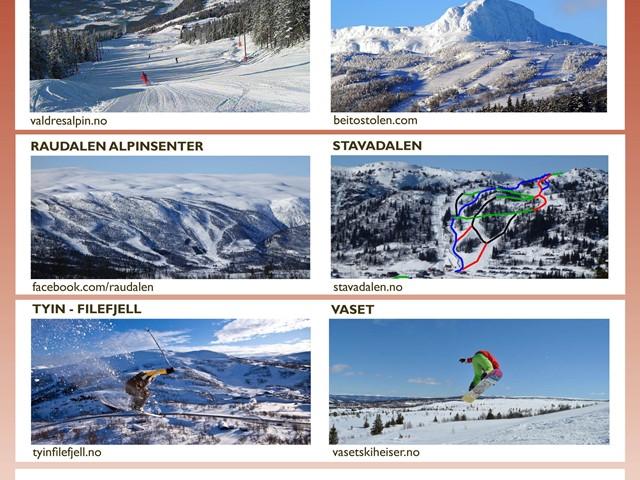 Et heiskort - 6 alpinanlegg