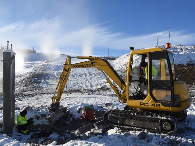 Siste klargjøring før montering av Fjellstølheisen