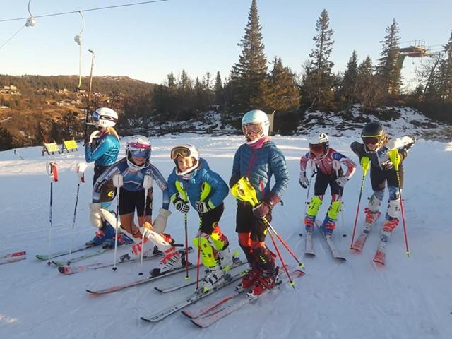 Fantastiske treningsforhold i Valdres Alpinsenter, Fjellstølheisen.