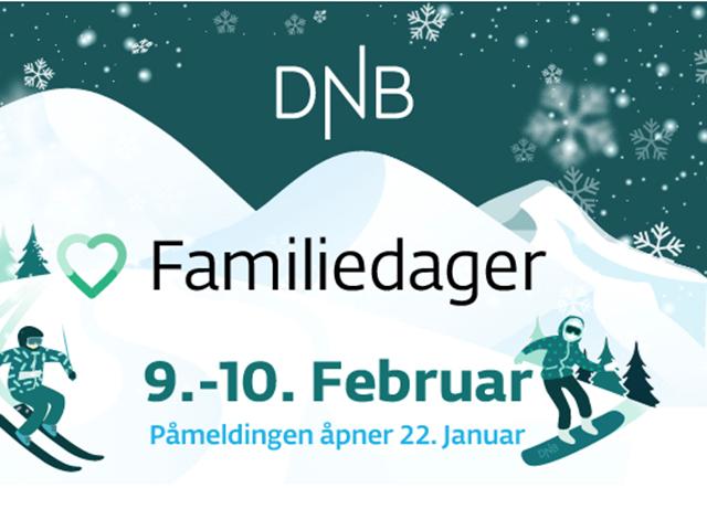 DNB Familiedager den 9. og 10. februar - Alle ut i bakken!